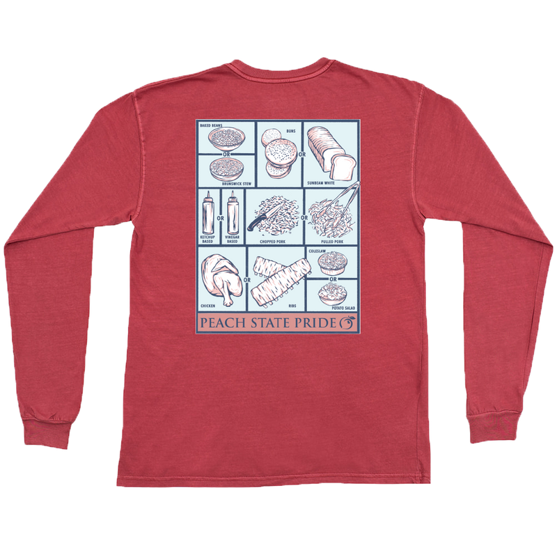 Georgia BBQ Long Sleeve Tee | Crimson