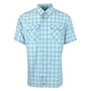 THE BOCA GRANDE SHORT SLEEVE : LIGHT BLUE / YELLOW