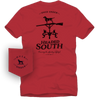 S/S Headed South T-Shirt Lighthouse Red