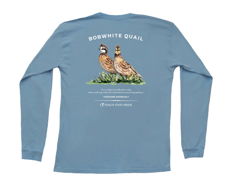 BOBWHITE QUAIL LONG SLEEVE POCKET TEE
