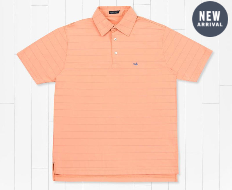 Bermuda Performance Polo - Paulson- Peach