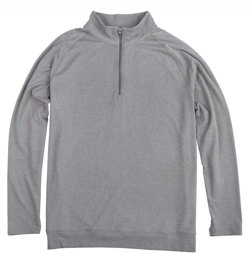BAMBOO PERFORMANCE PULLOVER HEATHER GREY