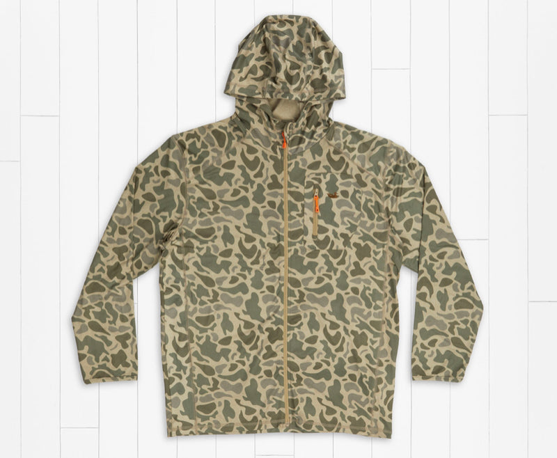 Tidal Performance Stretch Zip Hoodie Camo Print