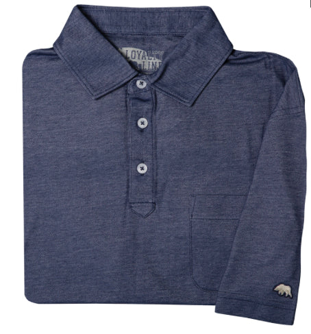 LOYALTY VINTAGE SOLID POLO NAVY