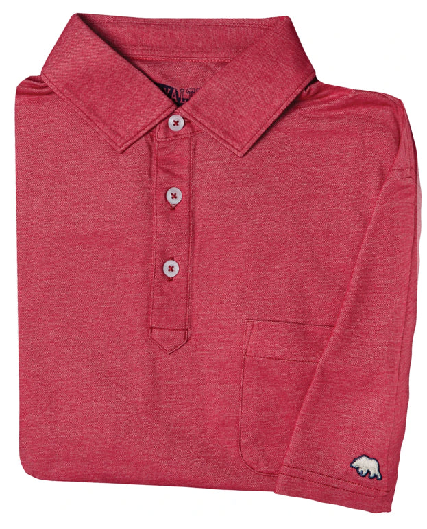 LOYALTY VINTAGE SOLID POLO RED