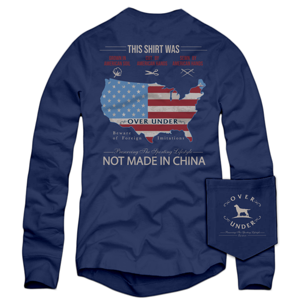 L/S American Hands T-Shirt Navy