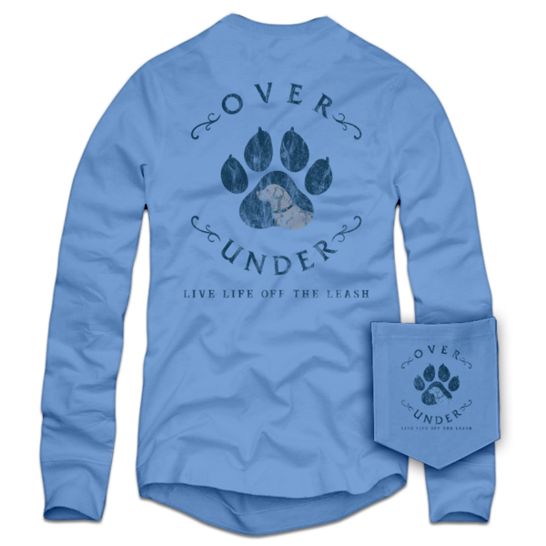 L/S Live off Leash T-Shirt Coastal Blue