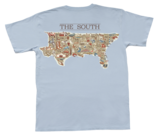 MAP OF THE SOUTH SHORT SLEEVE POCKET TEE