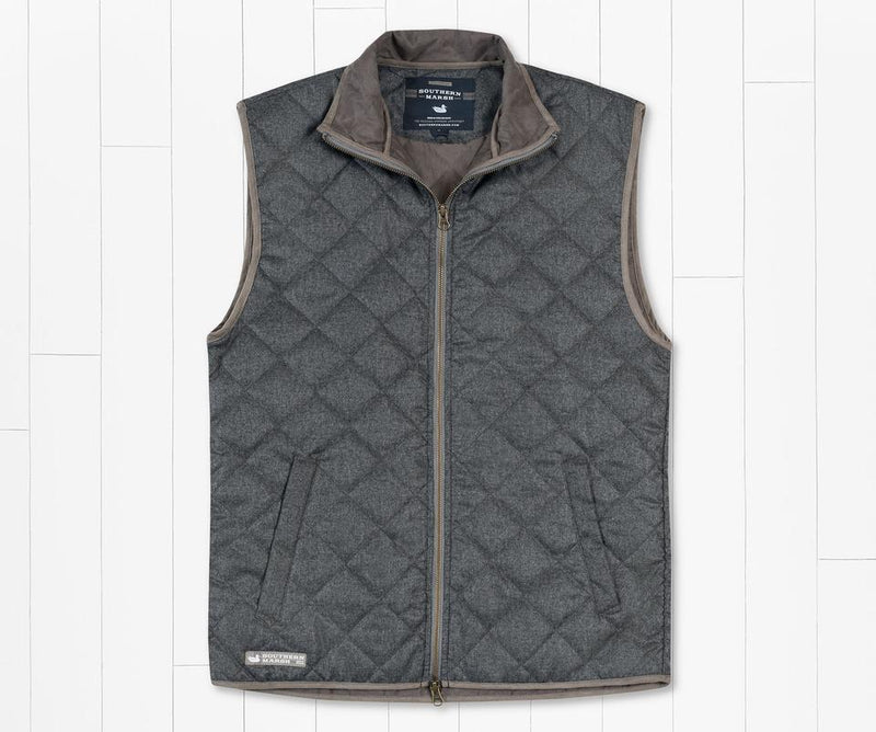 Newton Quilted Vest Grey