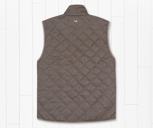 Newton Quilted Vest Stone Brown