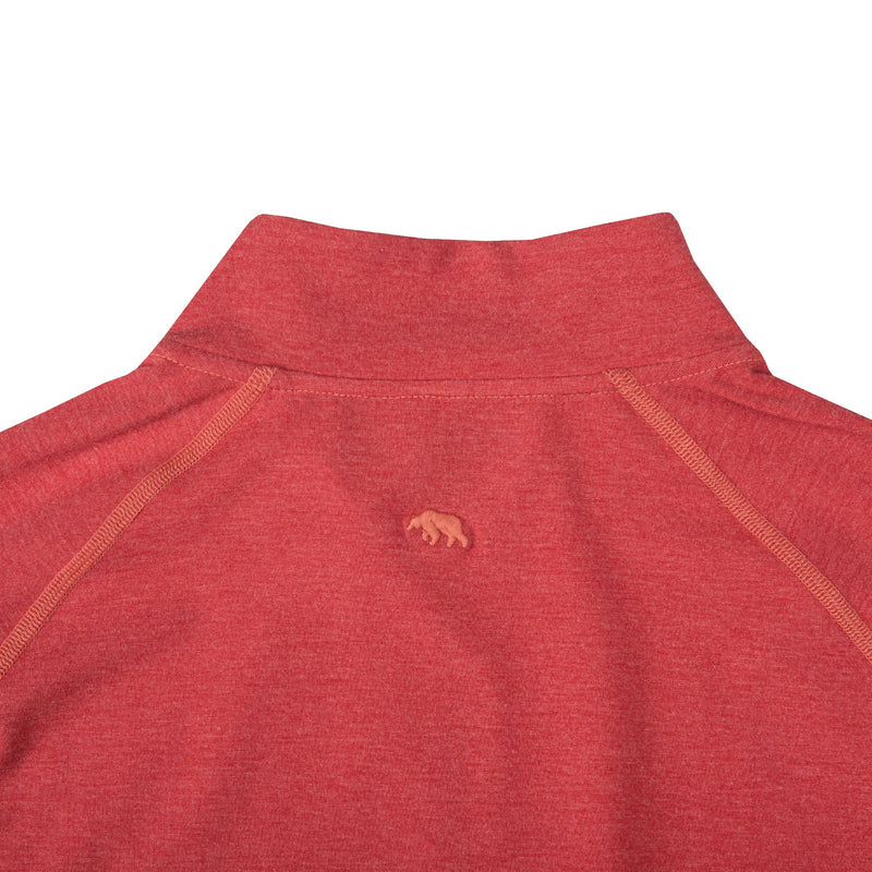 BAMBOO PERFORMANCE PULLOVER RED