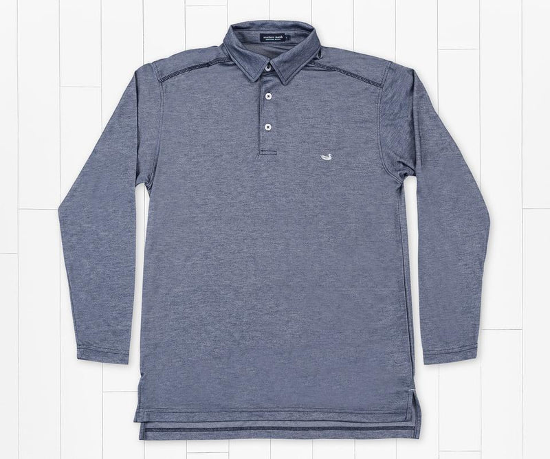 Long Sleeve Jackson Performance Polo Navy