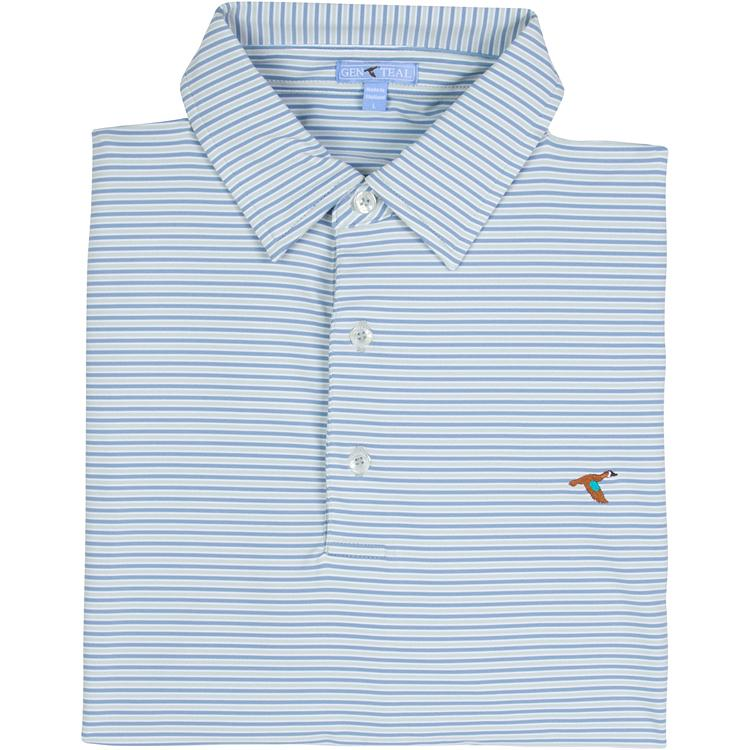 SEAGRASS FREEPORT STRIPE PERFORMANCE POLO