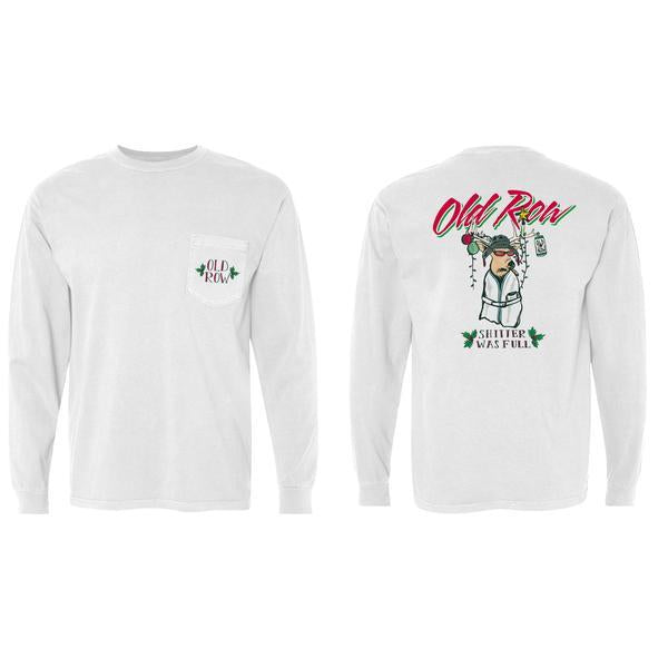 CHRISTMAS PARTY BUCK LONGSLEEVE POCKET TEE
