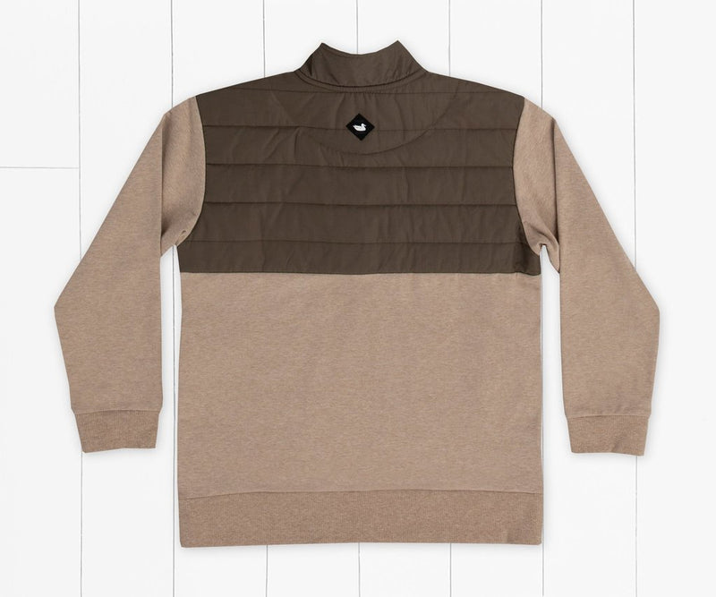 Youth Richardson Stretch Heather Pullover Burnt Taupe