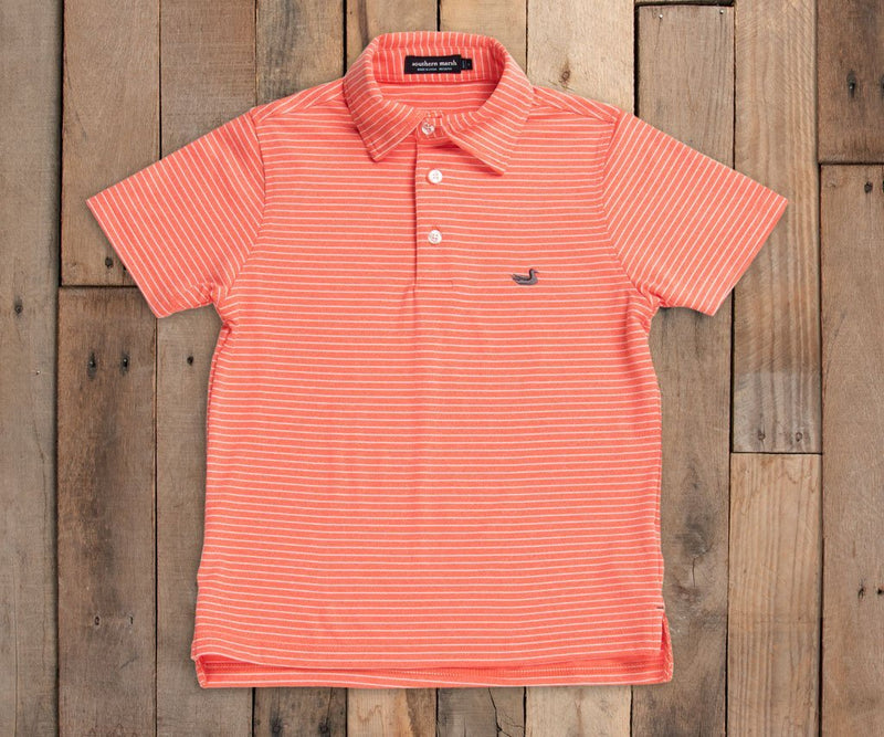 Youth Baldwin Performance Polo- CORAL
