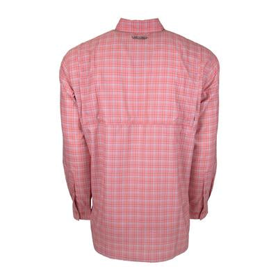 THE BOCA GRANDE LONG SLEEVE : MELON PLAID