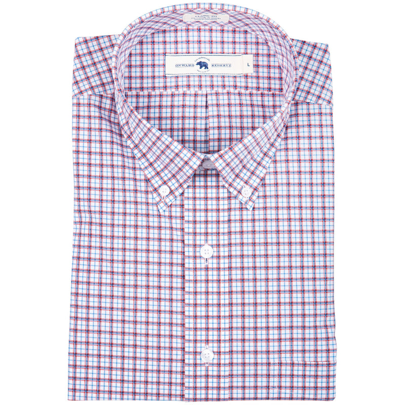 Classic Fit Stretch Cotton Button Down | Red White Blue