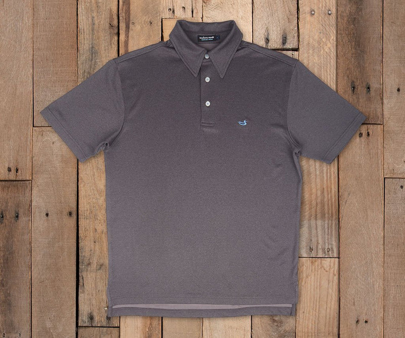 Eagle Heather Performance Polo | Midnight Gray