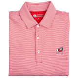 Hairline Stripe Standing Bulldog Performance Polo