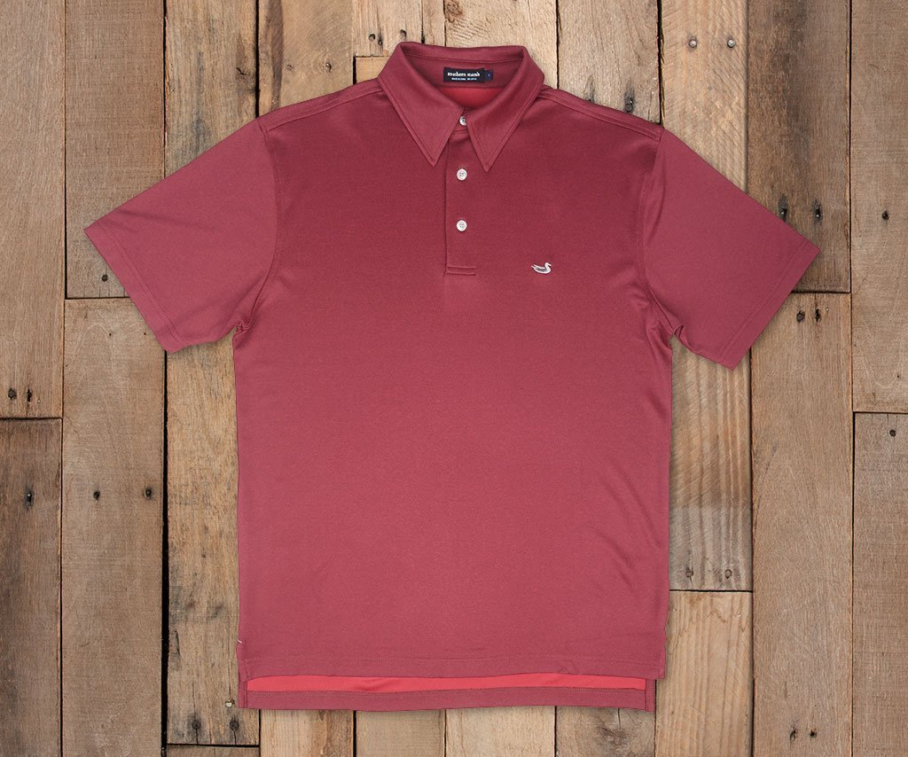 Eagle Heather Performance Polo | Red