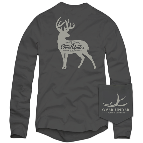 Whitetail Silhouette Long Sleeve T-Shirt