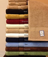 900 GSM Plush 100 Percent Combed Cotton 6 Piece Towel Set, Extremely Soft
