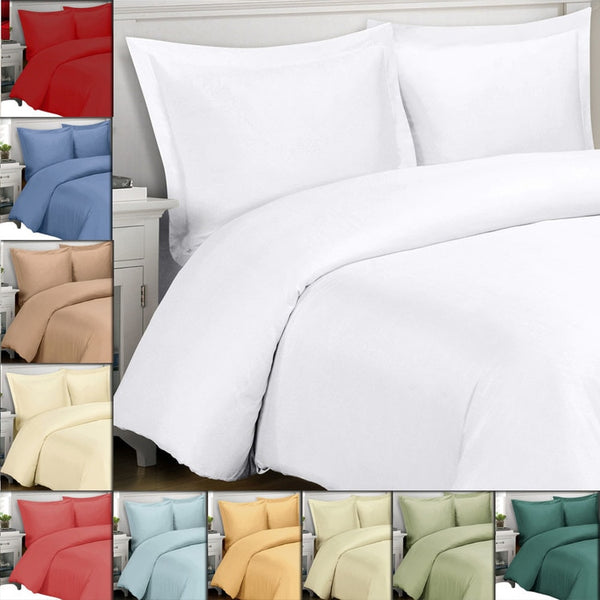 300 Thread Count 100% Bamboo Viscose Solid Bed in a Bag Set; Includes Duvet Cover, Coordinating Shams, White Flat Sheet, White Fitted Sheet, White Pillowcases, & Down Alternative Comforter