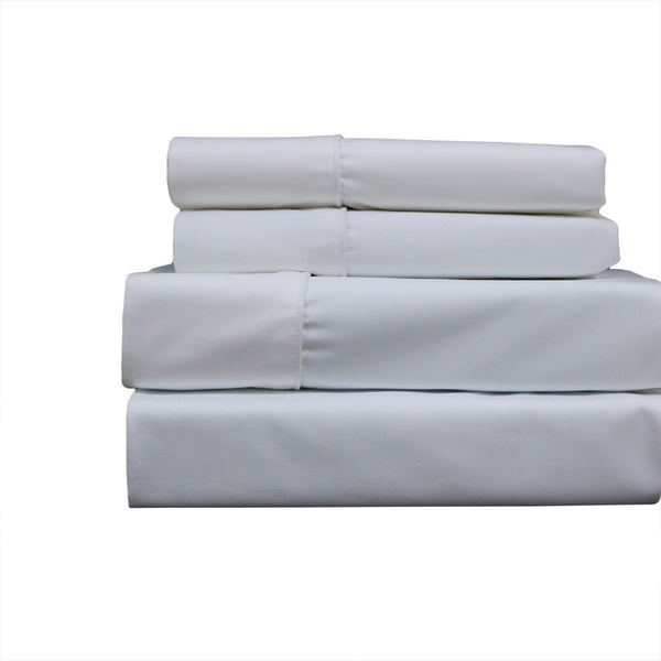 Wrinkle-Resistant 650Tc 70% Cotton-30% Polyester Solid Bedding;  22 inch Deep Pocket Bed Sheets Set; Includes Flat Sheet, Fitted Sheet, & Coordinating Pillowcases