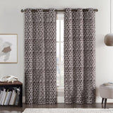 "Amadora Geometric Thermal Grommet Top Room Darkening Curtain Panels 76""wx84""L (Pair)"