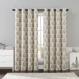 "Konya Contemporary Printed Grommet Room Darkening Curtains 54""Wx84""LSingle Panel"