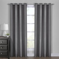 100% Blackout Curtain Panels - Chic Diamond Jacquard Woven Drape Theme (Set of 2)
