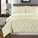 Meridian 250 Thread Count 100% Cotton Geometric Duvet Cover Set; Includes Duvet Cover and Coordinating Shams