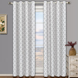 Set of Two Meridian Blackout Thermal Insulated Top Grommet Window Curtain Panels