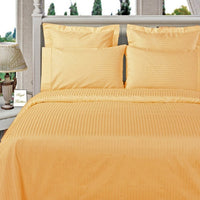 Hypoallergenic 100% Microfiber Striped Duvet Cover Set; Includes Duvet Cover and Coordinating Shams