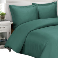 300 Thread Count 100% Bamboo Viscose Solid Duvet Cover Set; Includes Duvet Cover and Coordinating Shams