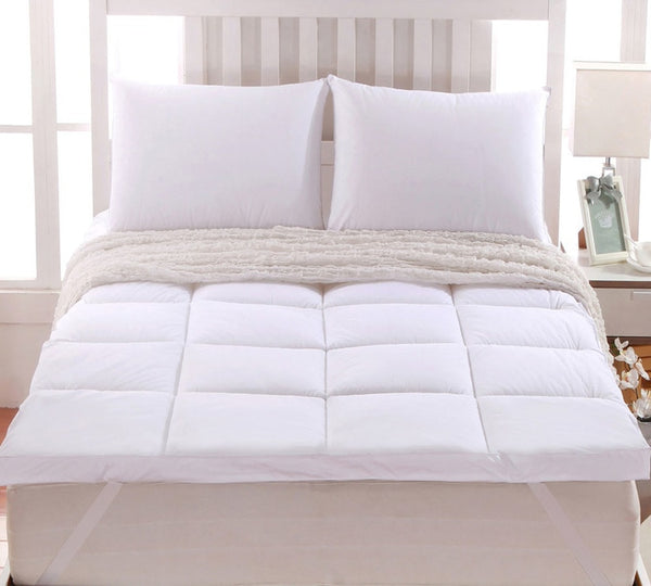 "2"" Abripedic™ Comfort Mattress Topper 100% Cotton Shell, White Alternative Down"