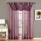 Abripedic Grommet Crushed Sheer Window Treatments, Panel or Valance, Beautiful Decor