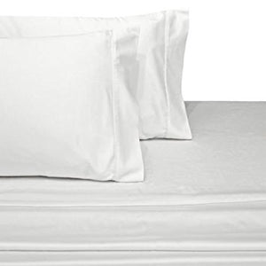 Luxury 1000 Thread Count 100% Cotton Solid Bed Sheet Set; Includes Flat  Sheet,