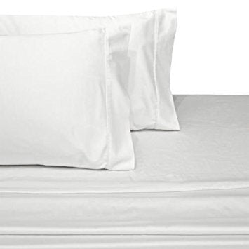 Luxury 1000 Thread Count 100% Cotton Solid Bed Sheet Set; Includes Flat Sheet, Fitted Sheet, & Coordinating Pillowcases
