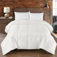 450TC 45% Silk-55% Cotton White Goose Down Comforter by Abripedic-700 Fill Power Extra Warmth Duvet Insert