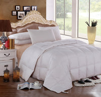 300 Thread Count 100% Cotton Solid White Goose Down Comforter-600 Fill Power All Season  Duvet Insert