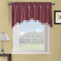"Soho Swag Decorative Trim Window Valance 35""W x 30""L (Pair)"