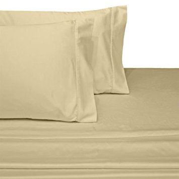 300 Thread Count 100% Cotton Percale Solid Pillowcases (Pair); Includes (2) Standard or King Size Pillowcases
