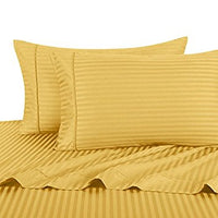 1000 Thread Count 100% Cotton Damask Striped Pillowcases (Pair); Includes (2) Standard or King Pillowcases