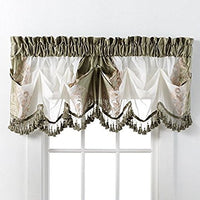 Danbury Rod Pocket Curtain Panel and Tuck Valance with Fringe (Single)