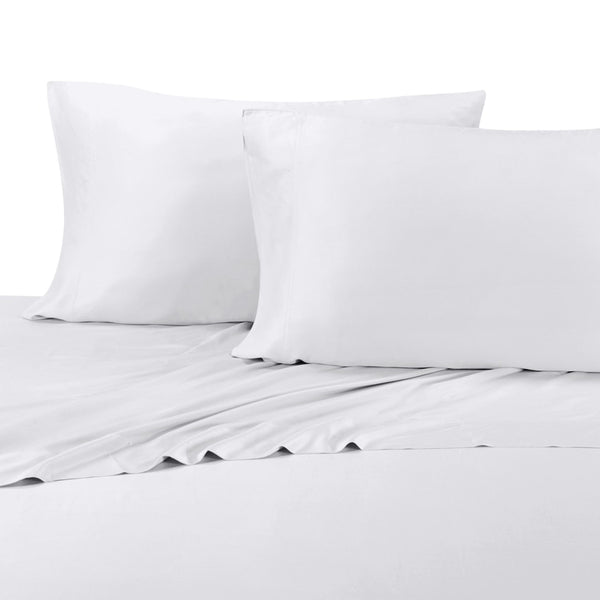 300TC 60% Bamboo Viscose-40% Cotton Hybrid Solid Pillowcases (Pair); Includes (2) Standard or King Pillowcases
