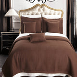 Luxury Checkered Quilted Wrinkle-Free 2-3 Piece Quilted Coverlet Set; Includes Quilt & Coordinating Shams