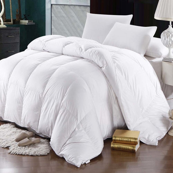 600TC 100% Cotton White Goose Down Comforter by Abripedic-700 Fill Power Extra Warmth Duvet Insert