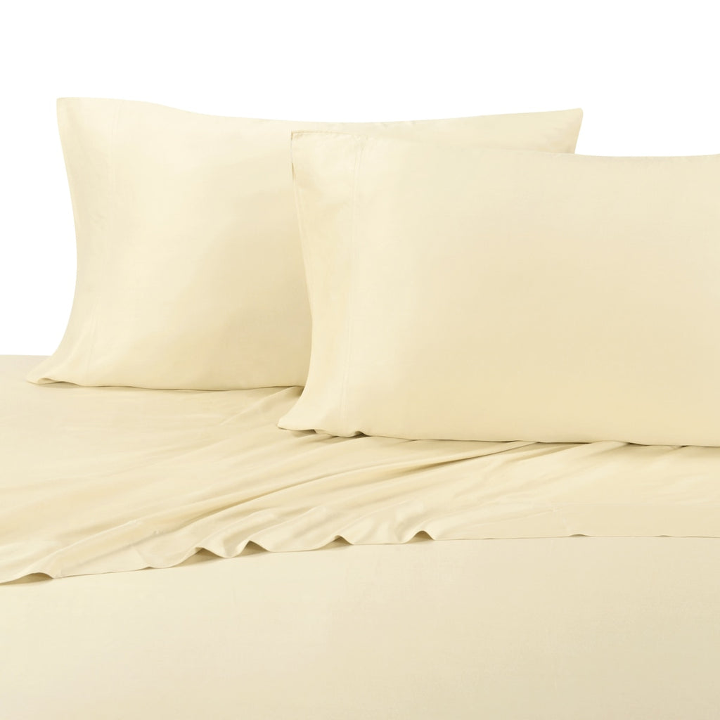 ... Hypoallergenic 300TC 100% Bamboo Viscose Solid Bedding; Adjustable Bed  Sheet Sets; Includes Flat ...